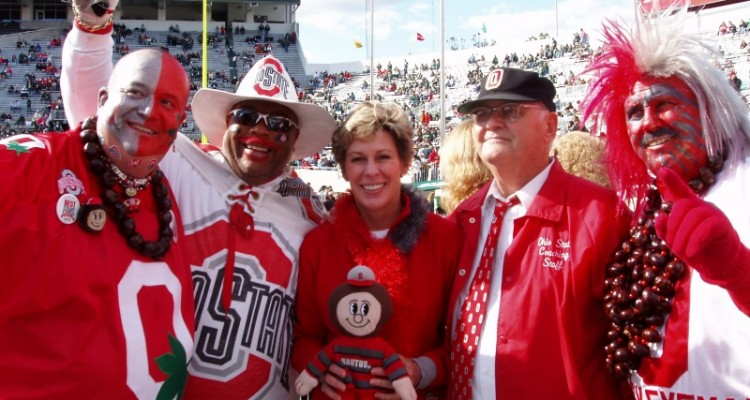 Buckeye Fans and Mrs. Tressel